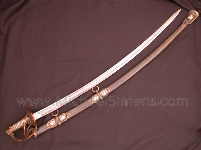 CIVIL WAR CAVALRY OFFICERS SABER BY SAURBIER