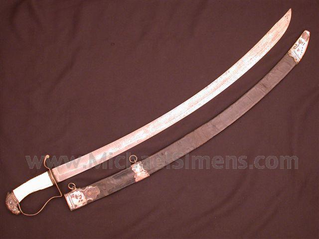 Federal period Silver Eagle-hilt sword.