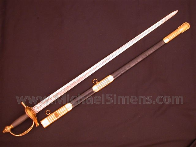 AMES, MODEL 1834 OFFICERS SWORD.