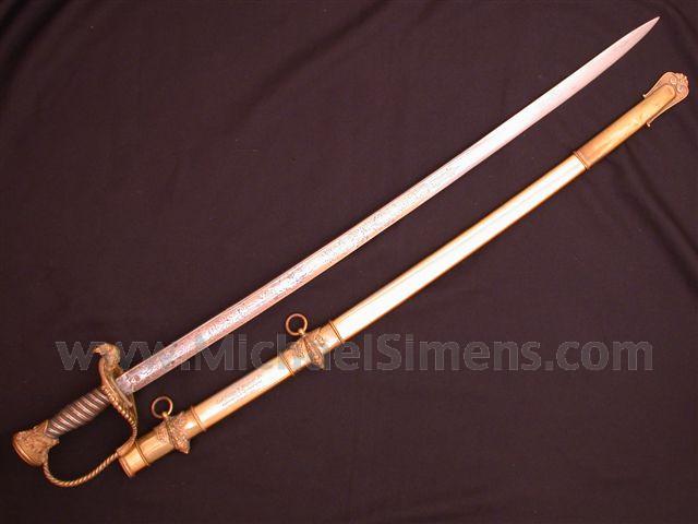 CIVIL WAR TIFFANY SWORD, HISTORICALLY INSCRIBED.