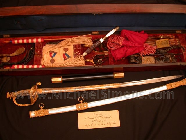 CIVIL WAR SWORD, CASED PRESENTATION OF J. WILLIAM HOFFMAN.