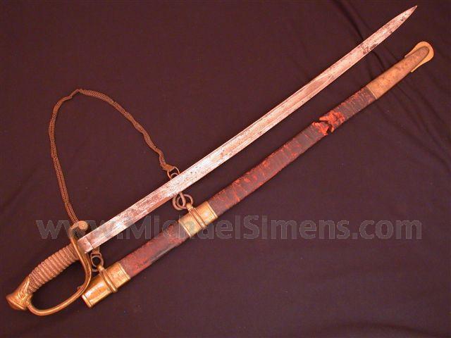 CIVIL WAR SWORD FOR SALE, IDENTIFIED