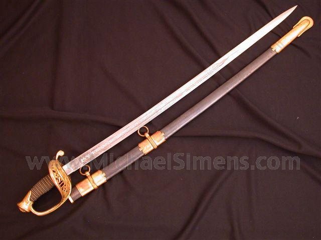 CIVIL WAR SWORD, AMES STAFF & FIELD