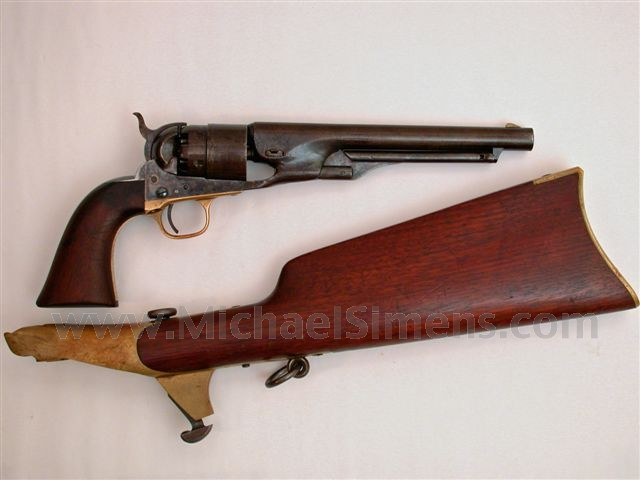 COLT 1860 ARMY REVOLVER WITH SHOULDER STOCK