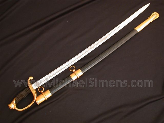 AMES FOOT OFFICER'S SWORD DATED, INSPECTED