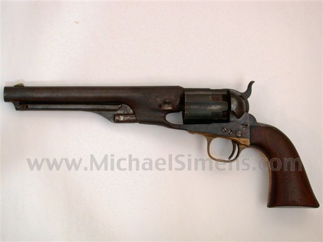 ANTIQUE COLT REVOLVER, FLUTED 1860 ARMY