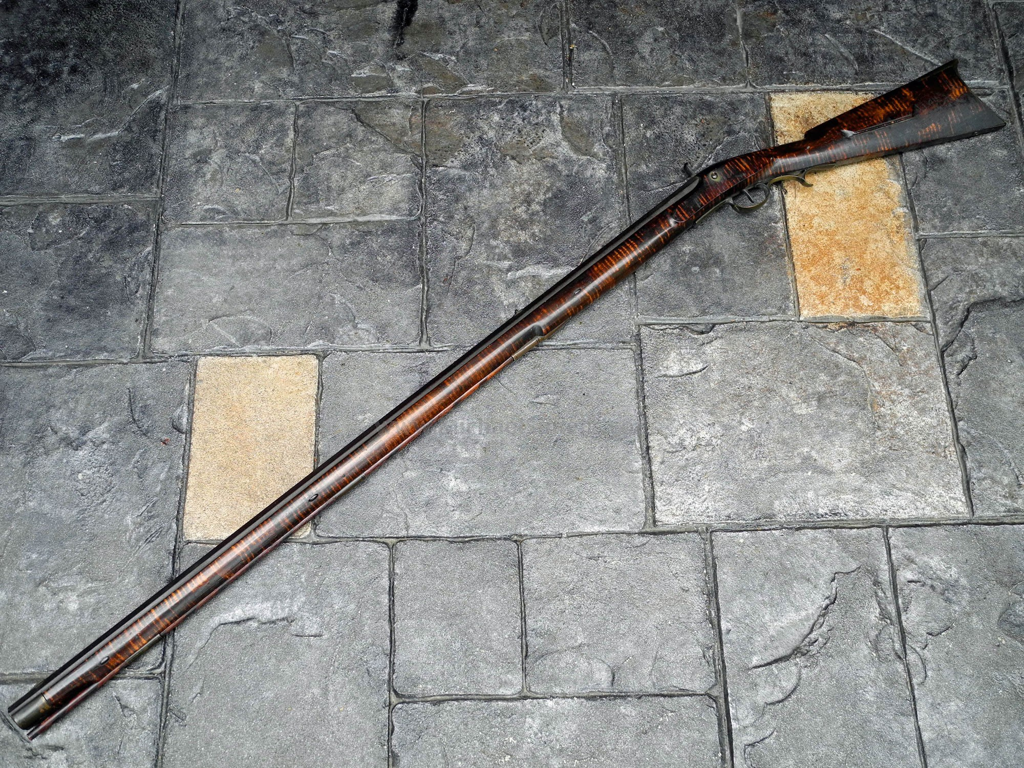 INDIAN OR FUR TRADE RIFLE BY DICKERT & GILL FOR SALE.