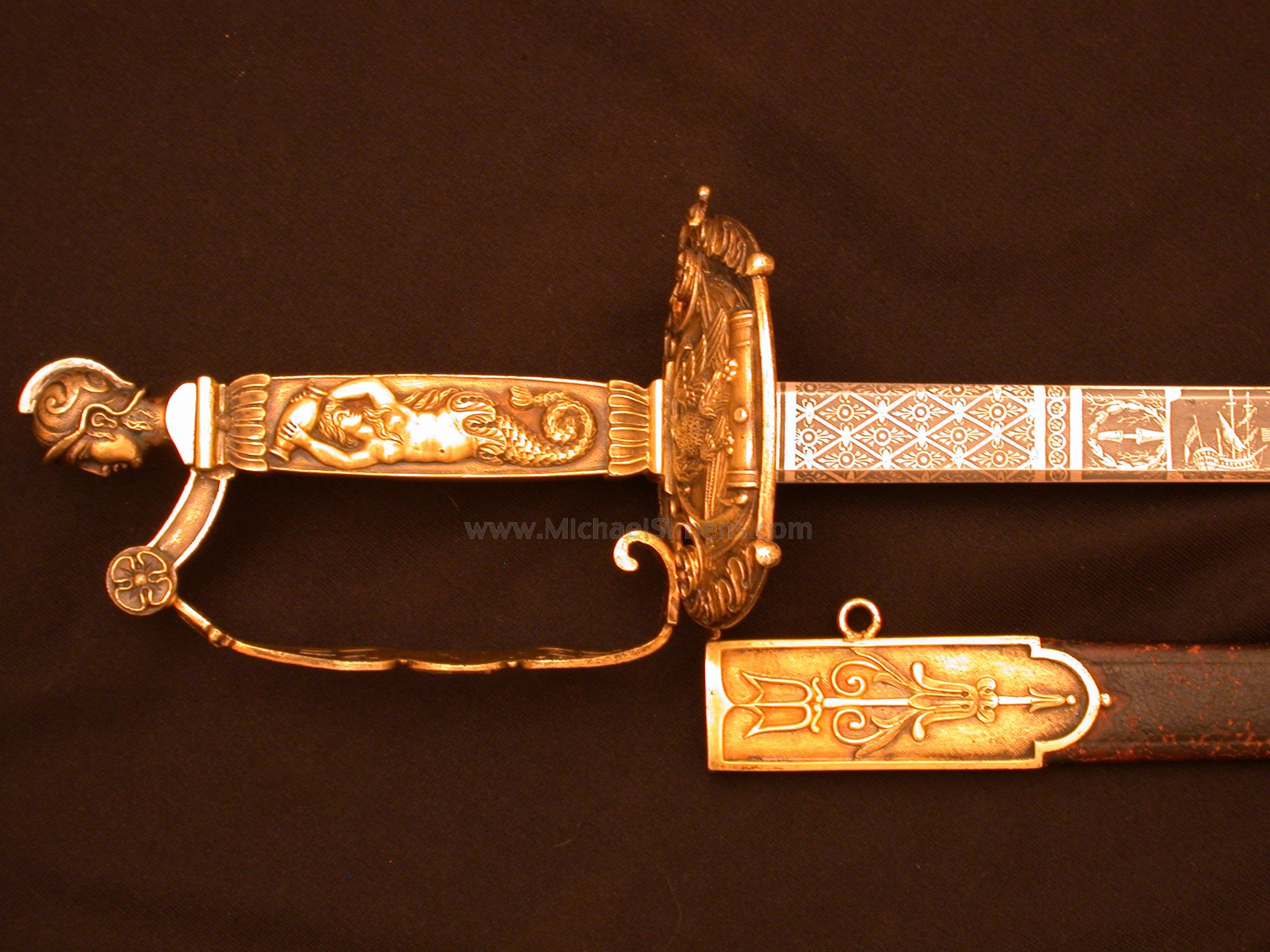 WAR OF 1812 CONGRESSIONAL PRESENTATION SWORD - NAVAL