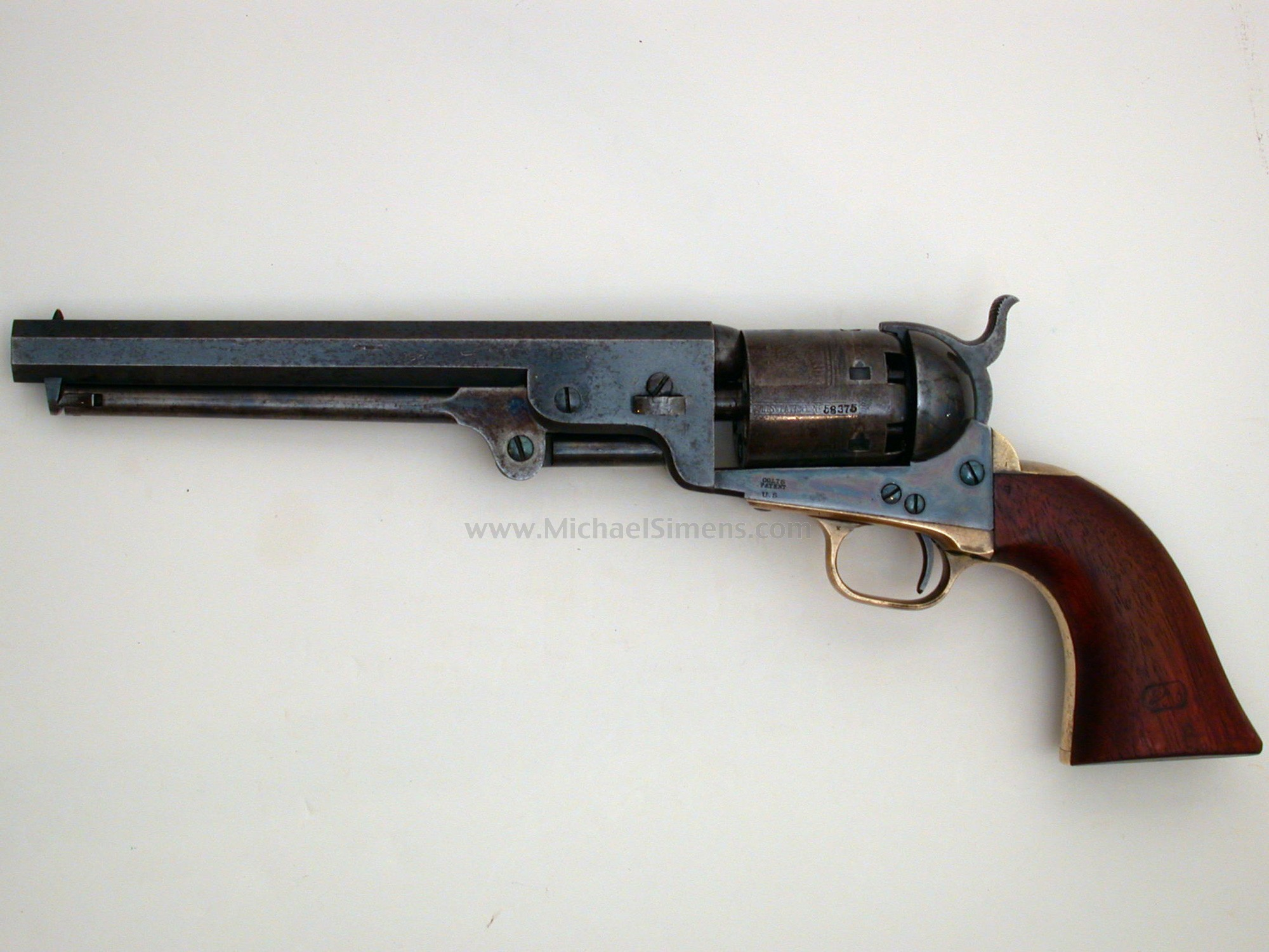 MARTIALLY MARKED COLT 1851 NAVY REVOLVER - Antique Colt Appraiser