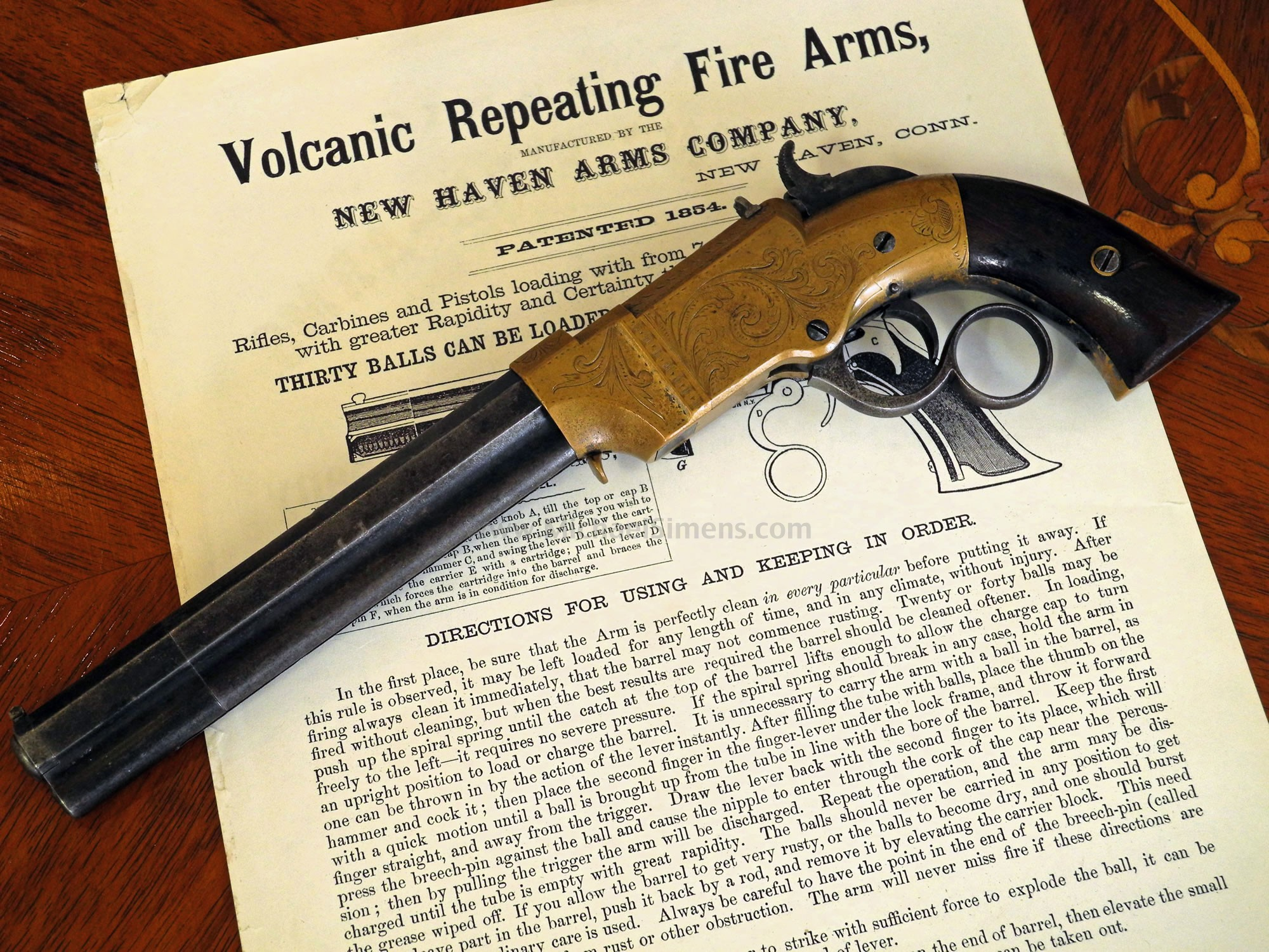 ANTIQUE VOLCANIC TARGET PISTOL FOR SALE - VOLCANIC FIREARMS