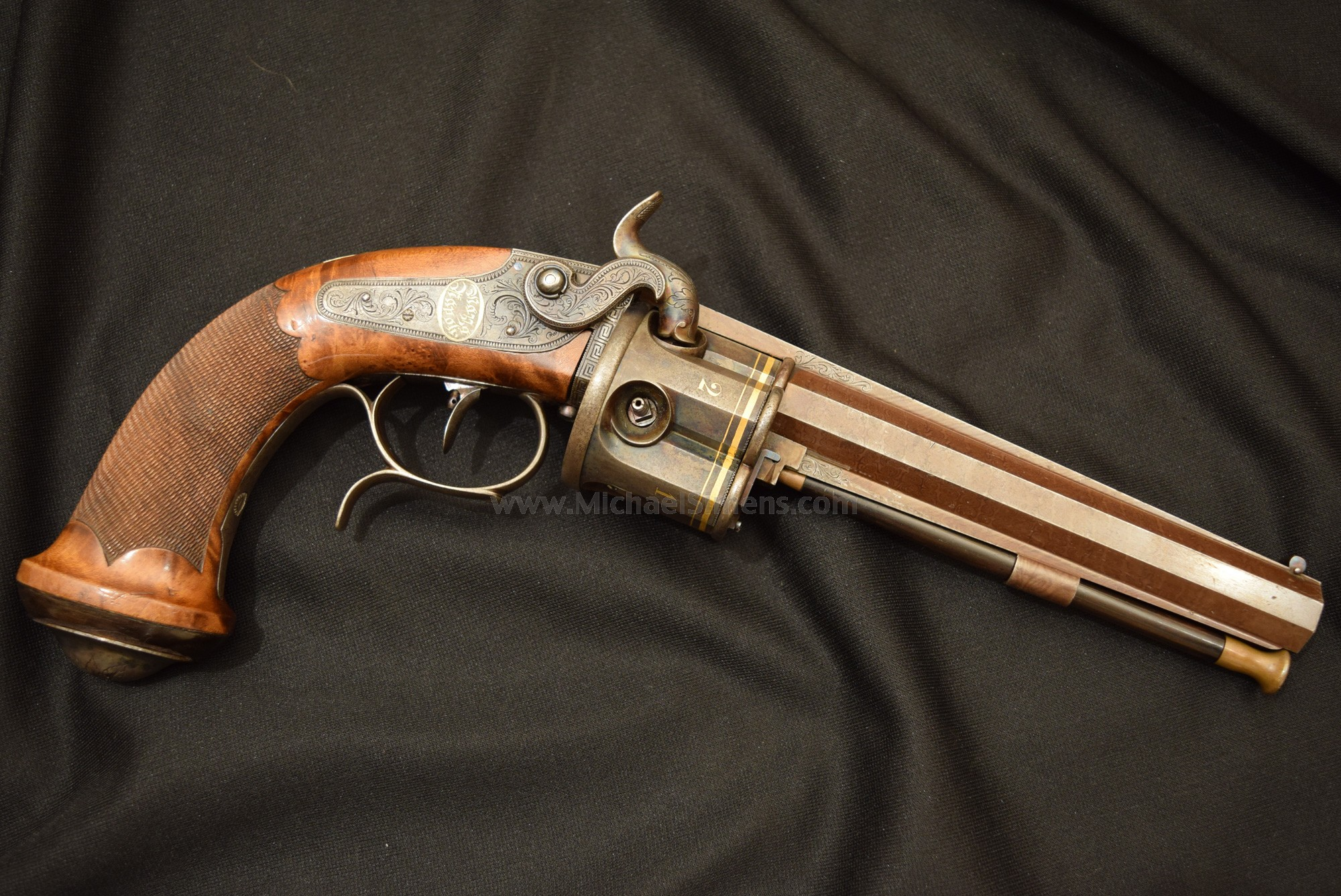 COLLIER PERCUSSION REVOLVER MADE FOR THE PRINCE OF SALERNO.