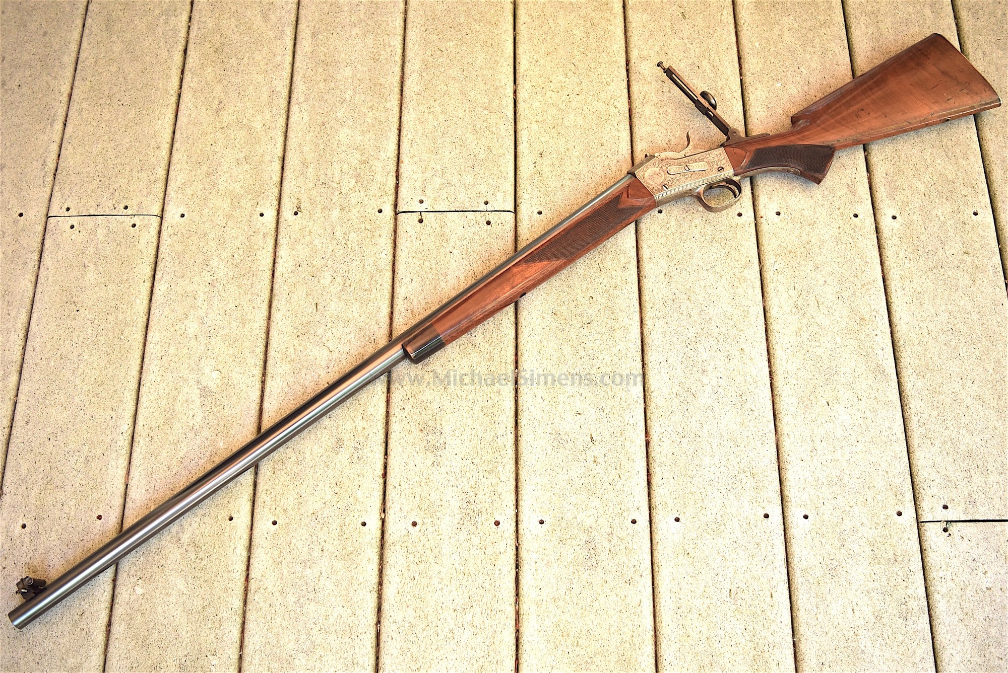 NIMSCHKE ENGRAVED WHITNEY SPORTING RIFLE