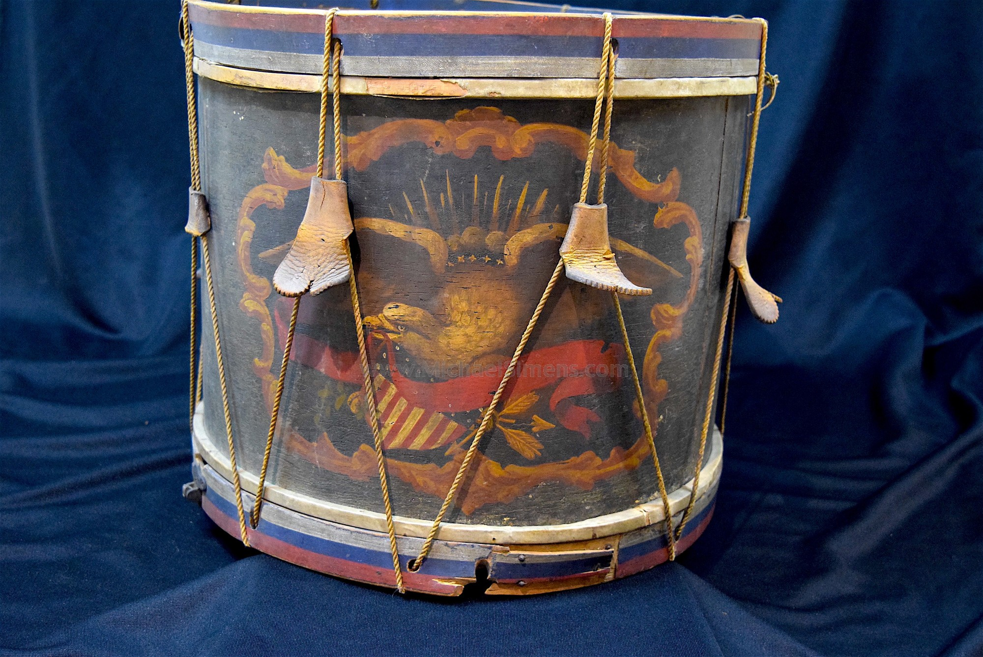 FULLY IDENTIFIED CIVIL WAR DRUM AND ARTIFACTS FROM OHIO WITH FULL-FAMILY DOCUMENTATION, PHOTO ALBUM, DISCHARGE, ETC.