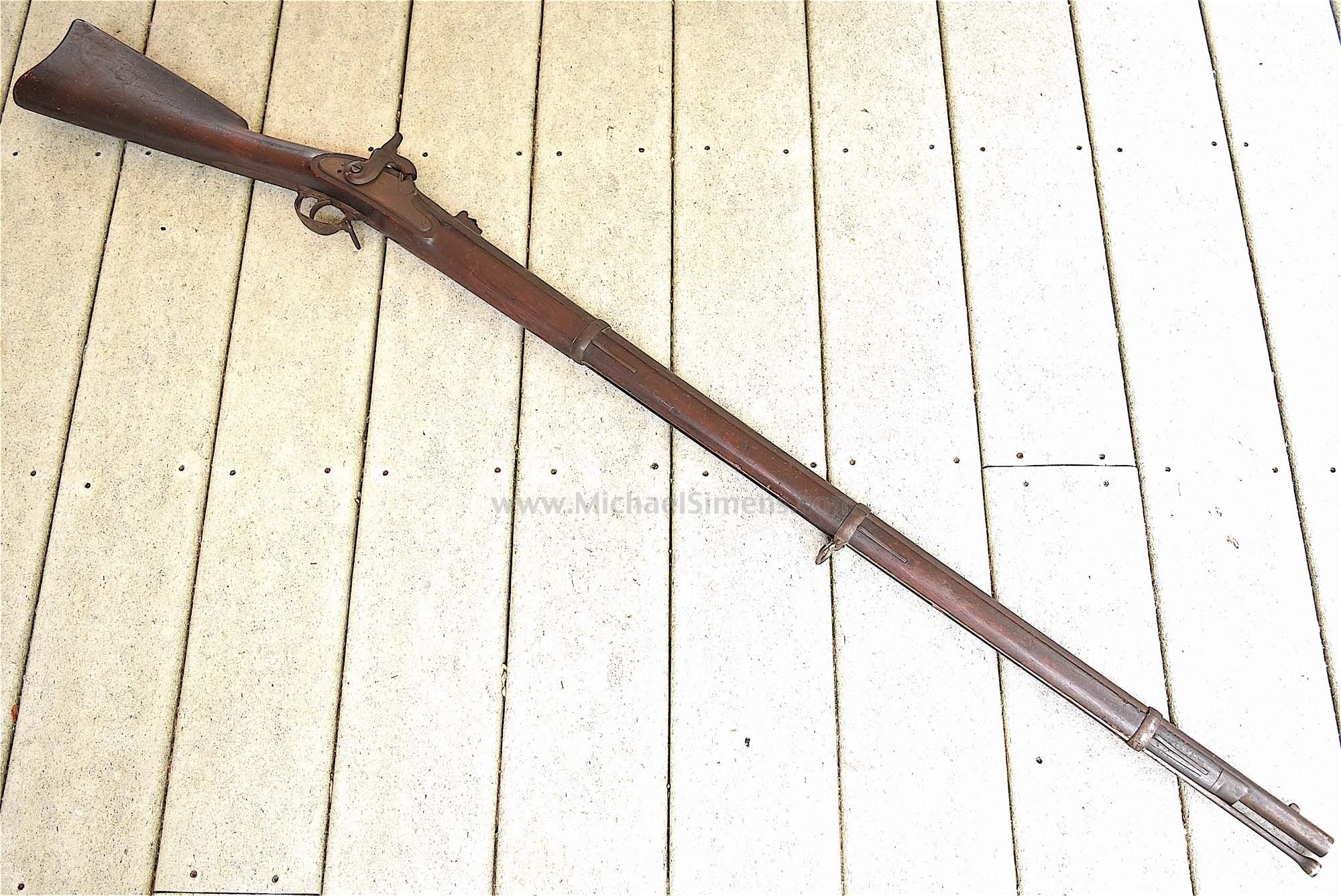 UNTOUCHED CIVIL WAR 1862 SPRINGFIELD RIFLED MUSKET