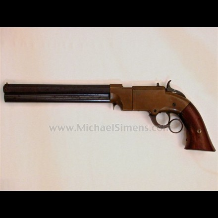 """VOLCANIC LEVER ACTION PISTOL. LARGE-FRAME VOLCANIC BY NEW HAVEN ARMS WITH 8"""", """"VOLCANIC"""" MARKED BARREL."""
