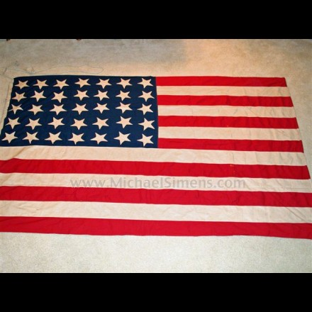 UNION CIVIL WAR FLAG, 35-STAR.