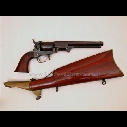 COLT 1851 NAVY REVOLVER WITH MATCHING SHOULDER STOCK.