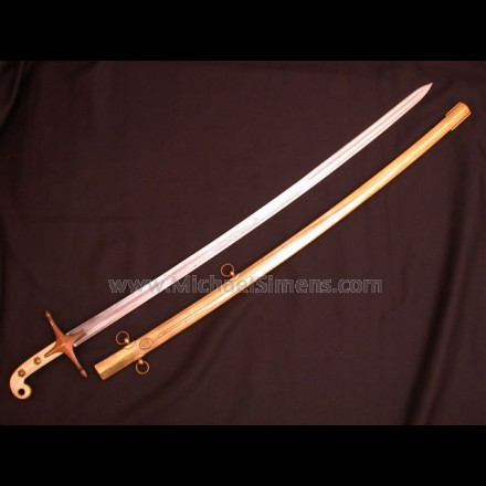 U. S. MARINE MAMELUKE SWORD, INSCRIBED.