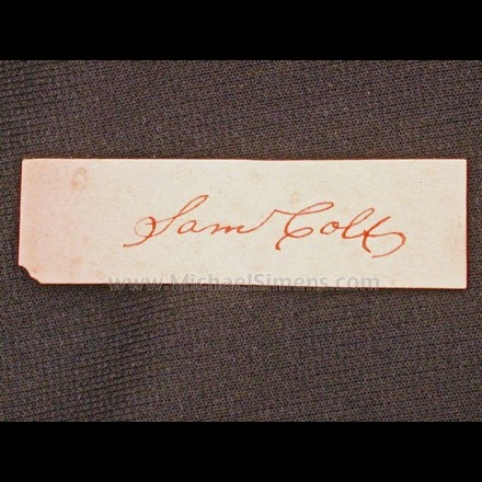 """SAM COLT"" CLIPPED SIGNATURE"