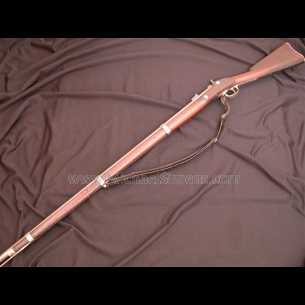 CIVIL WAR RIFLED MUSKET BY TRENTON DATED 1864.