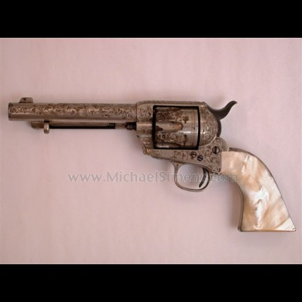 COLT SINGLE ACTION REVOLVER NEW YORK ENGRAVED