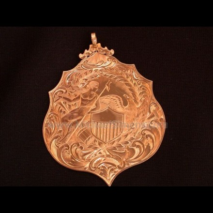 CIVIL WAR PRESENTATION MEDAL OF SOLID GOLD