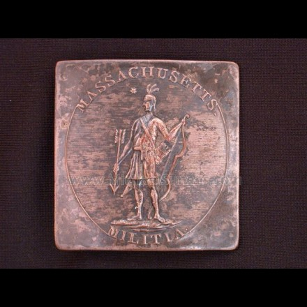 STATE OF MASSACHUSETTS MILITIA BUCKLE.