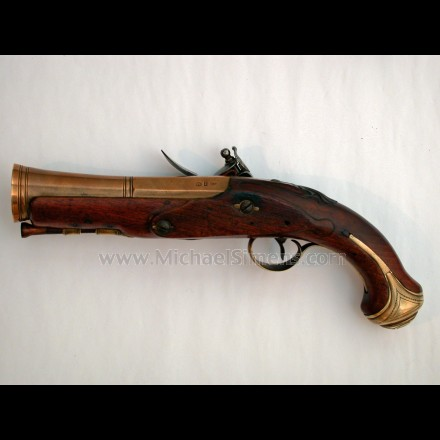ANTIQUE FLINTLOCK BLUNDERBUSS PISTOL