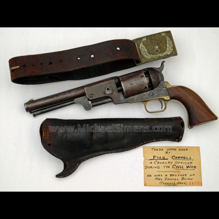COLT THIRD MODEL DRAGOON REVOLVER, IDENTIFIED - HISTORICAL ARMS