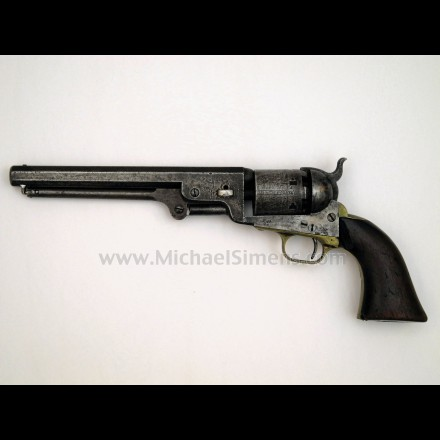 COLT 1851 NAVY REVOLVER, MARTIALLY MARKED