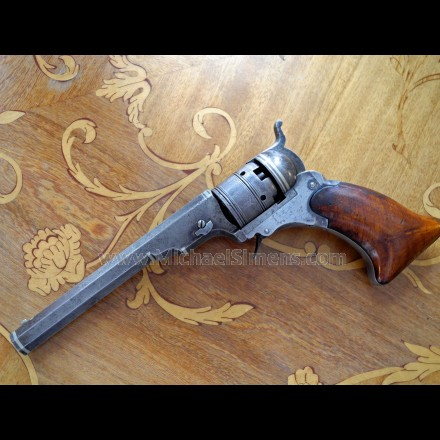 COLT #3 BELT MODEL PATERSON REVOLVER WITH SILVER BANDS