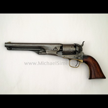 COLT 1861 NAVY 4-SCREW REVOLVER, RARE, INSCRIBED