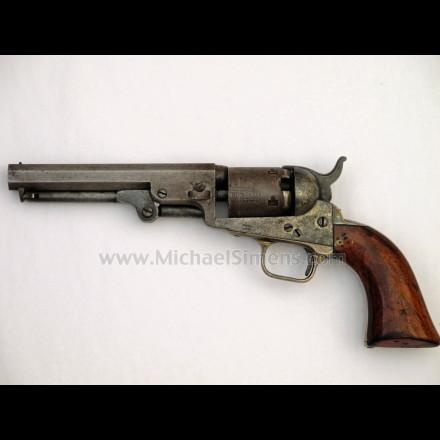 Colt 1849 pocket revolver with 5 inch barrel