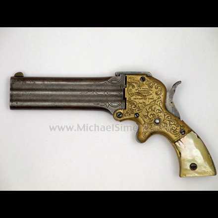 MARSTON 3-BARREL DERINGER - ANTIQUE GUN
