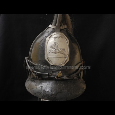 WAR OF 1812 DRAGOON HELMET - ANTIQUE MILITARY HEADGEAR DEALER