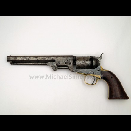 INSCRIBED 1851 COLT NAVY REVOLVER - ANTIQUE COLTS FOR SALE
