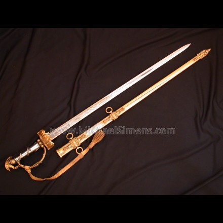 Presentation Civil War Sword by Tiffany with Cannon-Hilt