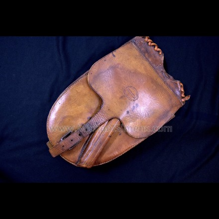 SPECTACULAR PAIR OF MAIN & WINCHESTER HOLSTER-POMMEL BAGS FOR COLT NAVY REVOLVERS