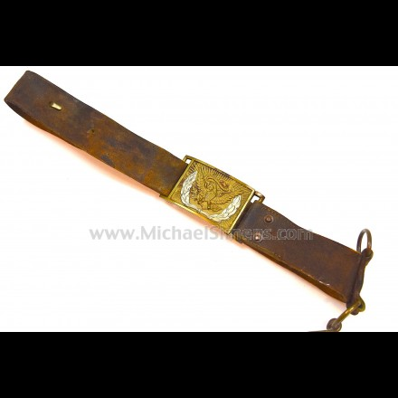 CIVIL WAR BUFF LEATHER ARTILLERY BELT