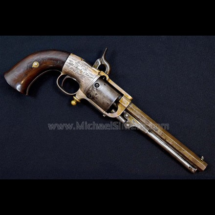 IMPORTANT, INSCRIBED BUTTERFIELD REVOLVER. POSSIBLY ONLY KNOWN!