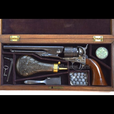 COLT 1860 ARMY REVOLVER CASED WITH ACCESSORIES