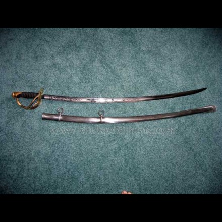 AMES MODEL 1860 CAVALRY OFFICERS SABRE.
