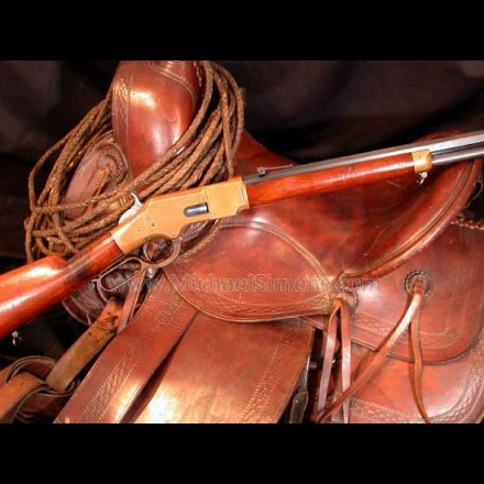 1866 Winchester Rifle with Henry marked barrel.