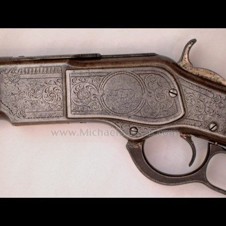 WINCHESTER 1873 RIFLE, FACTORY ENGRAVED