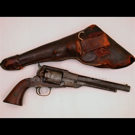 CIVIL WAR REVOLVER, REMINGTON-BEALS NAVY REVOLVER WITH ITS ORIGINAL HOLSTER.