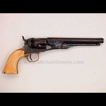 FACTORY ENGRAVED COLT 1862 POLICE REVOLVER