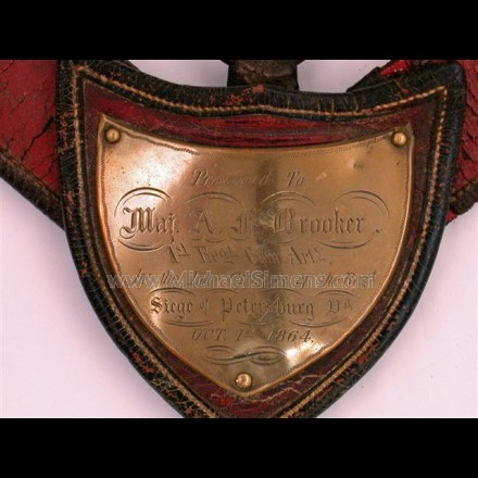 CIVIL WAR MARTINGALE, HISTORICALLY INSCRIBED!