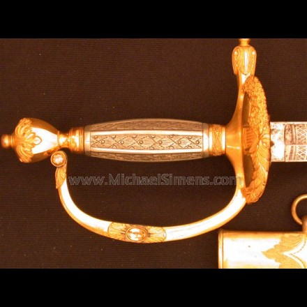 MEXICAN WAR PRESENTATION OFFICERS SWORD, U.S. DRAGOONS !!!