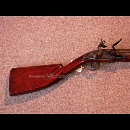 ANTIQUE GUN, PRE-REVOLUTIONARY WAR CLUB-BUTT FOWLER.