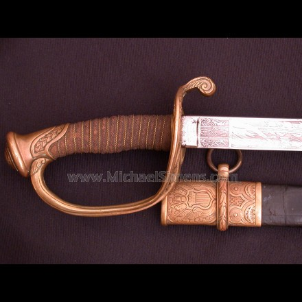 INSCRIBED CIVIL WAR SWORD